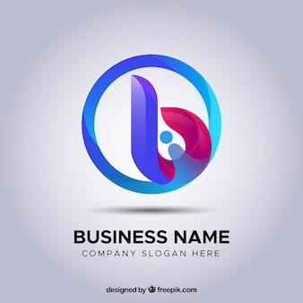 Flacher hintergrund des abstrakten logos