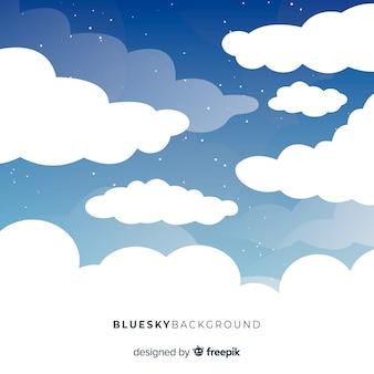 Flacher hintergrund des blauen himmels