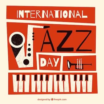 Flacher hintergrund des internationalen jazztages