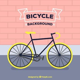 Flacher hintergrund mit professionellem fahrrad