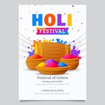 Flacher holi festival flyer