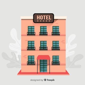 Flacher hotelgebäude hintergrund