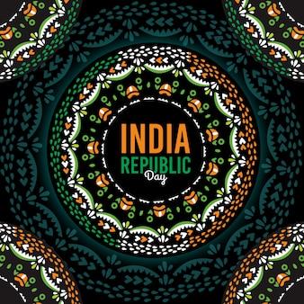 Flacher indien-republiktageshintergrund