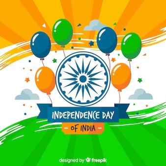 Flacher indien-unabhängigkeitstaghintergrund