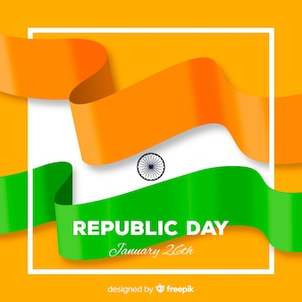 Flacher indischer republiktageshintergrund