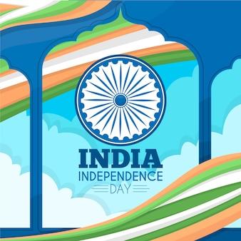 Flacher indischer unabhängigkeitstag der republik