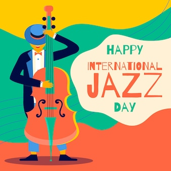 Flacher internationaler jazz tag