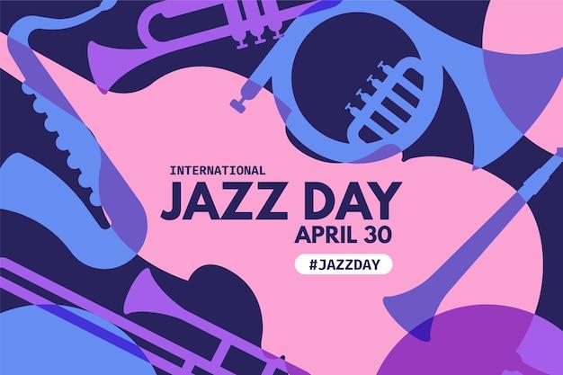 Flacher internationaler jazz tag