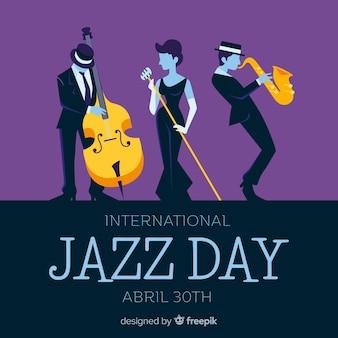 Flacher internationaler jazztageshintergrund