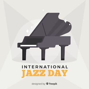 Flacher internationaler jazztageshintergrund