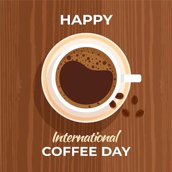 Flacher internationaler kaffeetag