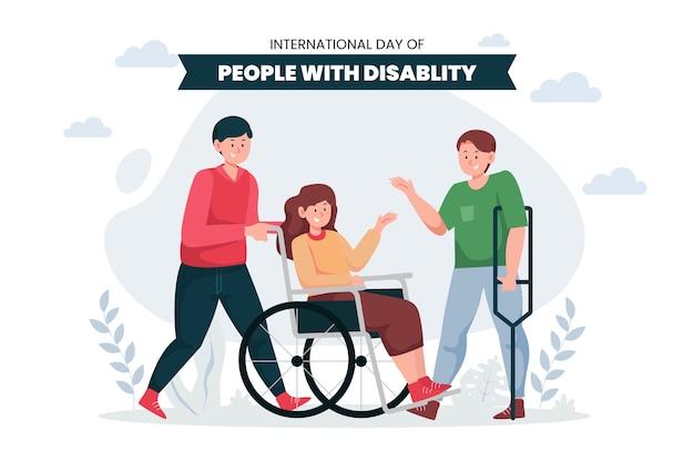 Flacher internationaler tag der menschen mit behinderung
