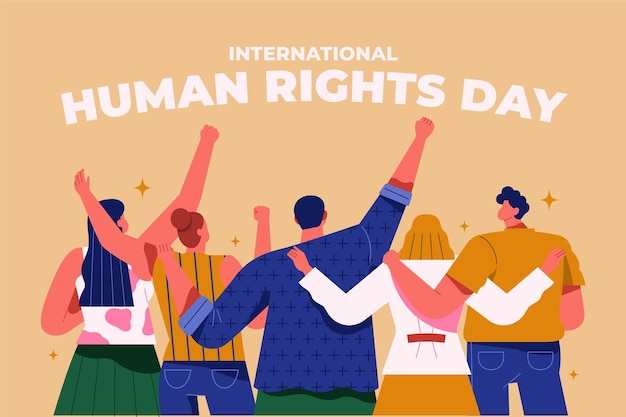 Flacher internationaler tag der menschenrechte
