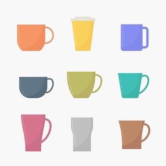 Flacher kaffeetassektor