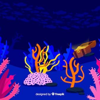Flacher korallenhintergrund