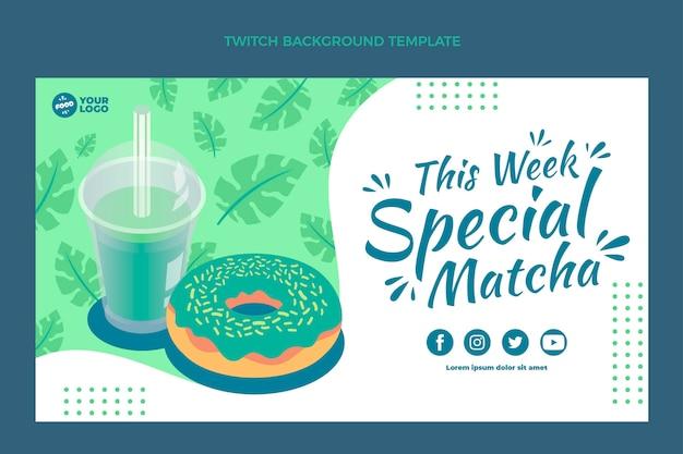 Flacher matcha-food-twitch-hintergrund