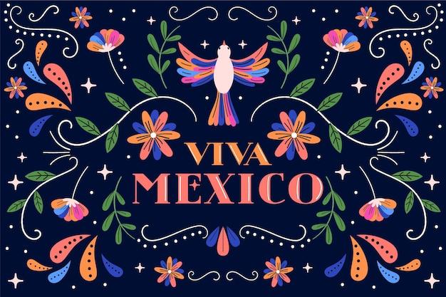 Flacher mexikanischer hintergrund des cinco de mayo