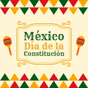 Flacher mexikanischer verfassungstag