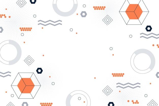 Flacher minimaler geometrischer hintergrund