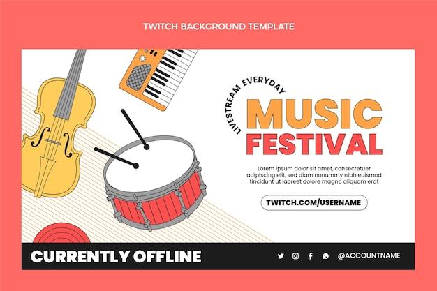 Flacher minimaler musikfestivalzuckenhintergrund