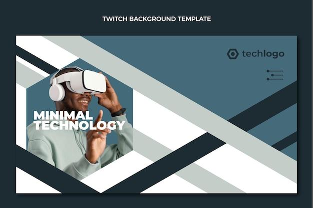 Flacher minimaler technologiezuckenhintergrund