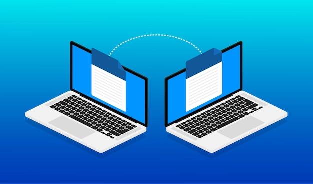 Flacher mock-up-laptop für website-design