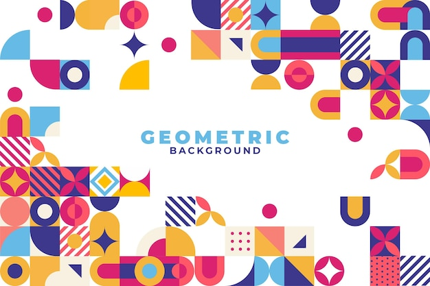 Flacher mosaikhintergrund mit geometrischen formen