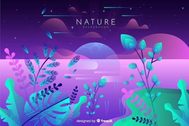 Flacher natur-hintergrund