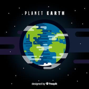 Flacher planet erde design