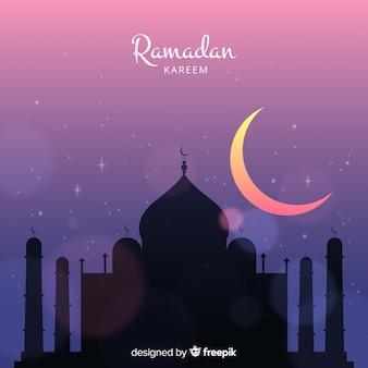 Flacher ramadan-hintergrund
