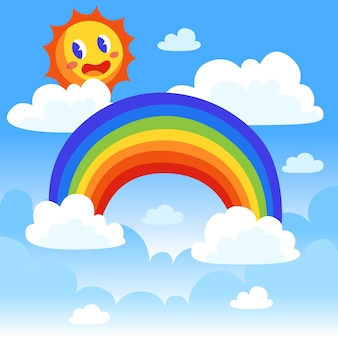 Flacher regenbogen