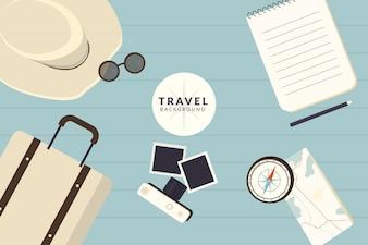 Flacher reisehintergrund