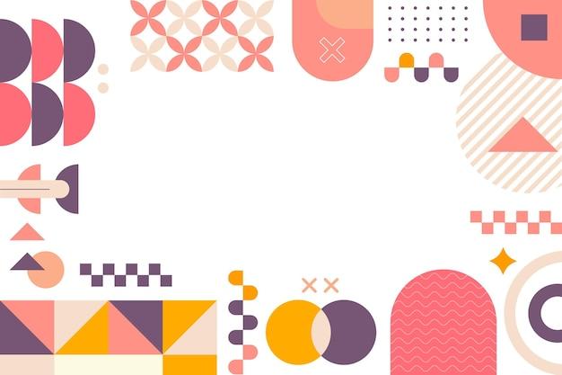 Flacher stil des abstrakten geometrischen hintergrundes