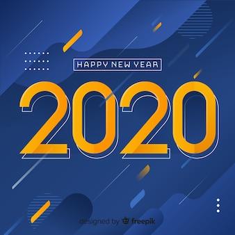 Flacher stil für neujahrsveranstaltung 2020