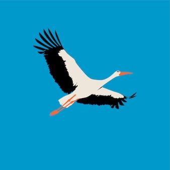 Flacher storch