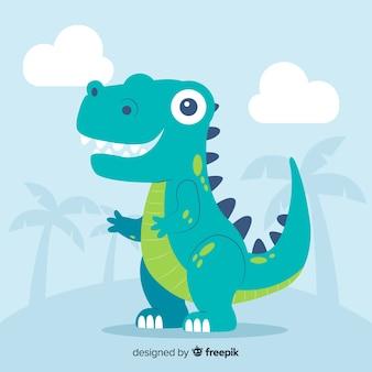 Flacher t-rex dinosaurierhintergrund