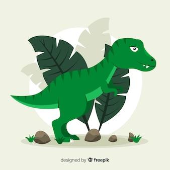 Flacher t-rex-hintergrund
