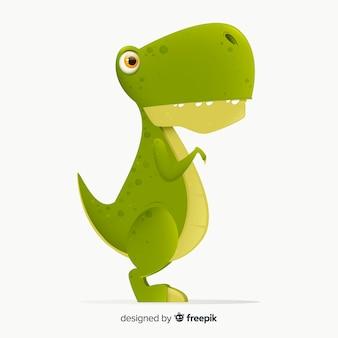 Flacher t-rex hintergrund