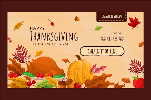 Flacher thanksgiving-twitch-hintergrund