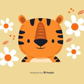 Flacher tigerkopf