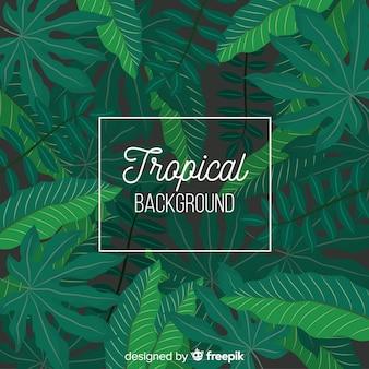 Flacher tropischer hintergrund
