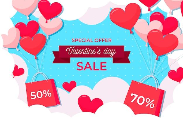 Flacher valentinstag sonderverkauf