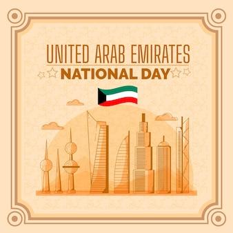 Flacher vereinigter arabischer emirate nationalfeiertag