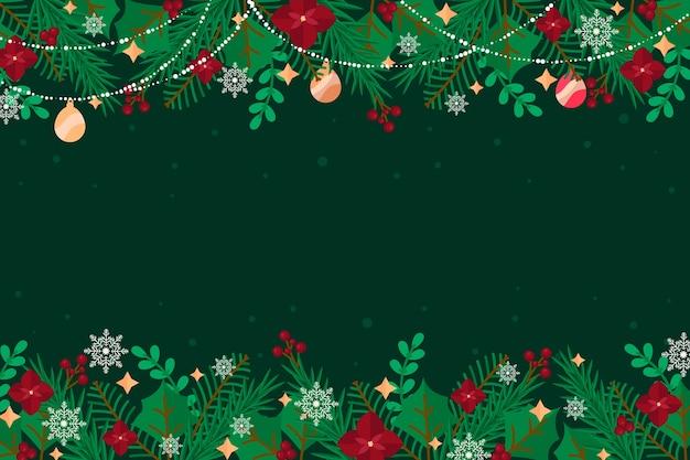 Flacher weihnachtsbaumzweighintergrund