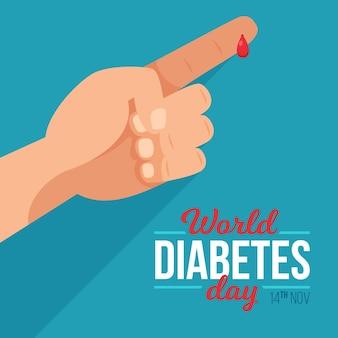 Flacher weltdiabetestag