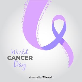 Flacher weltkrebs-tageshintergrund