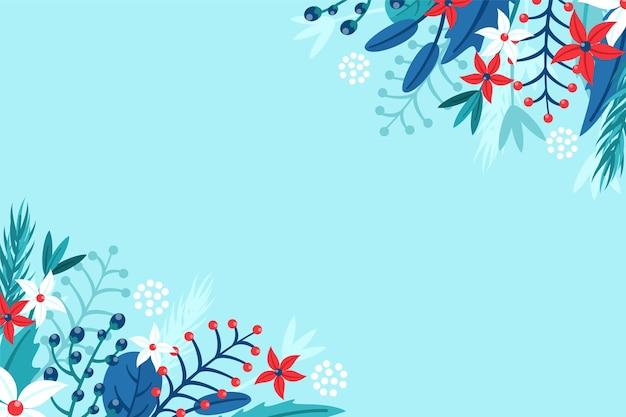 Flacher winterhintergrund