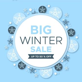 Flacher winterverkauf