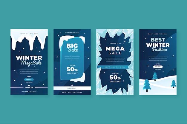 Flacher winterverkaufshintergrund
