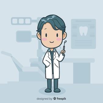 Flacher zahnmedizinischer charakter